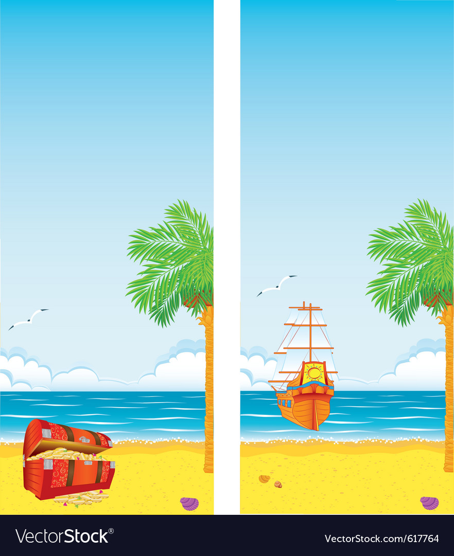 Sea and islands vector | Price: 1 Credit (USD $1)