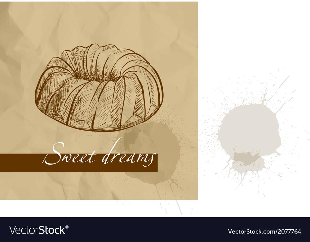 Sweet cake vector | Price: 1 Credit (USD $1)