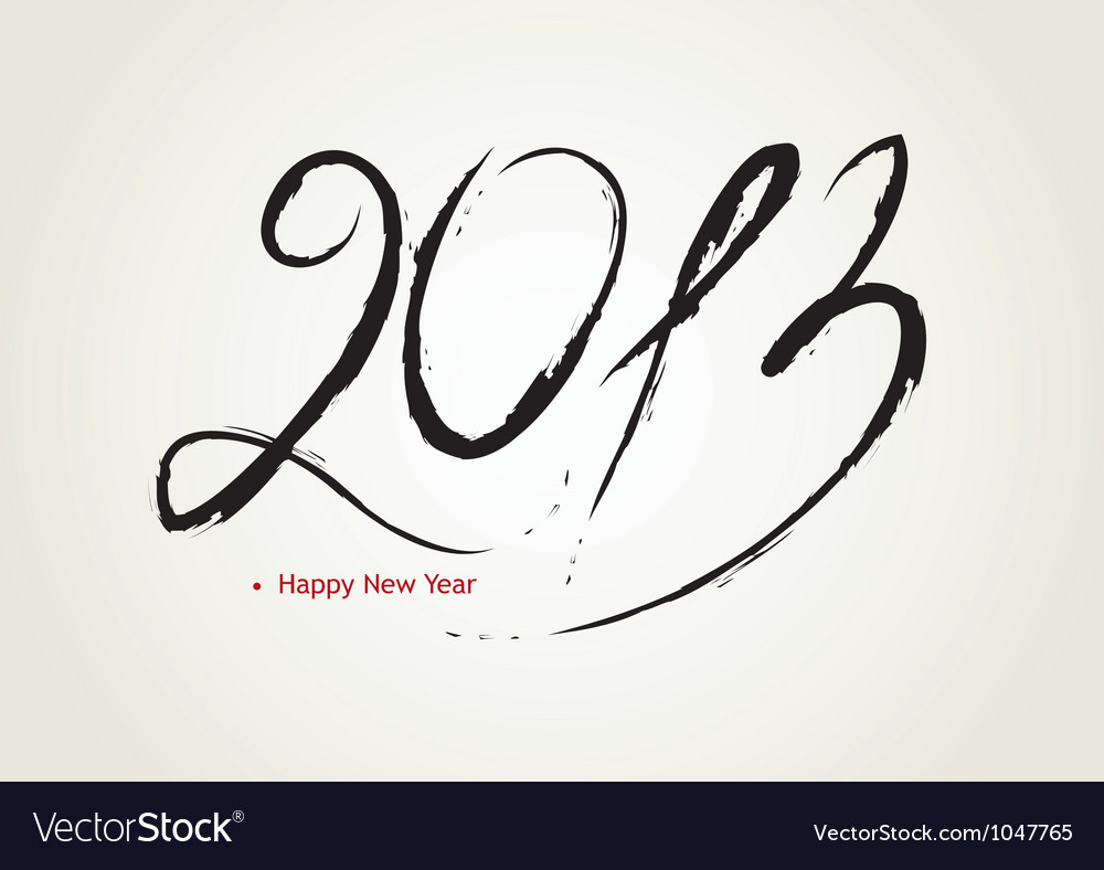 2013 calligraphy vector | Price: 1 Credit (USD $1)