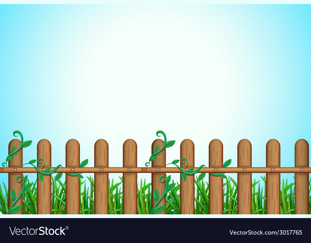 A wooden fence vector | Price: 1 Credit (USD $1)