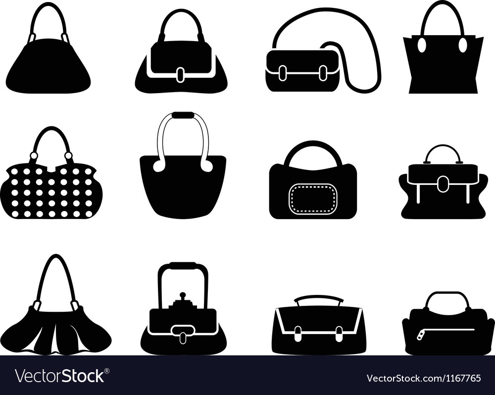 Bags silhouettes vector | Price: 1 Credit (USD $1)