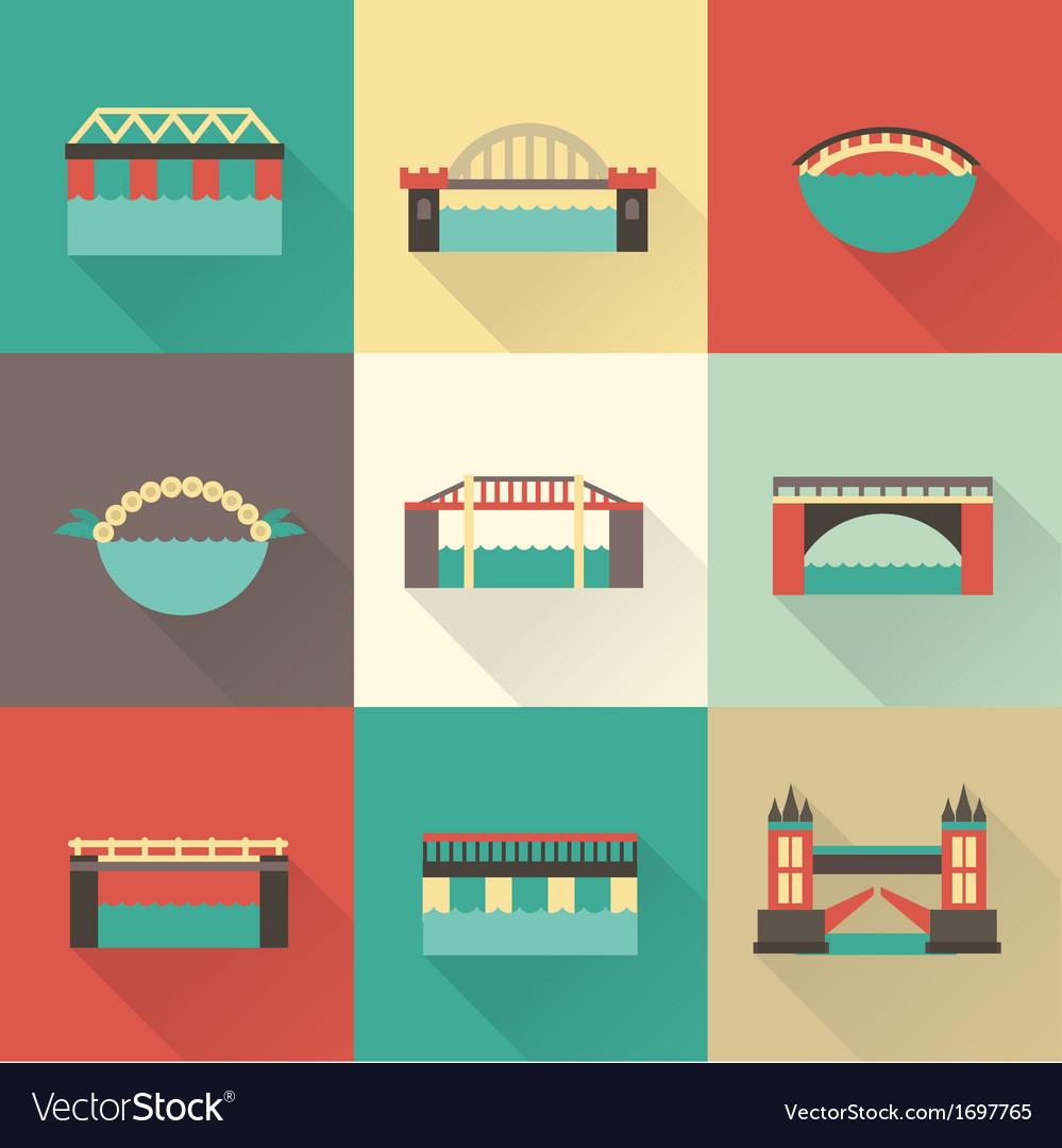 Bridge icon vector   Price: 1 Credit (USD $1)