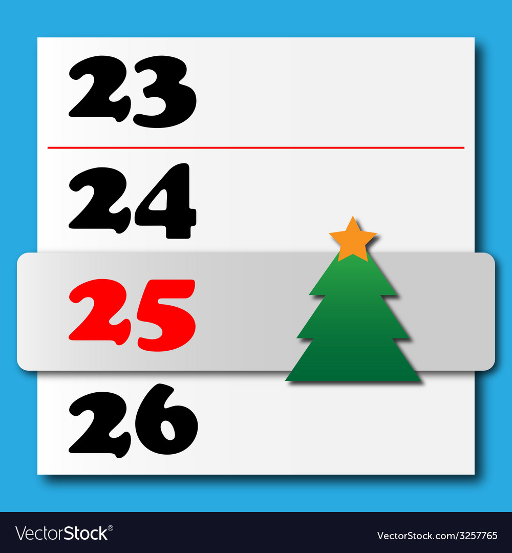 Christmas calendar with a sliding tree vector | Price: 1 Credit (USD $1)