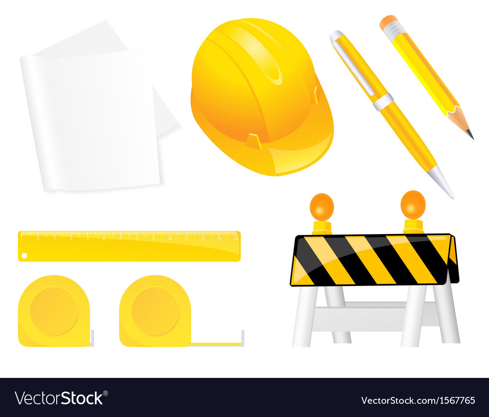 Construction objects vector | Price: 1 Credit (USD $1)
