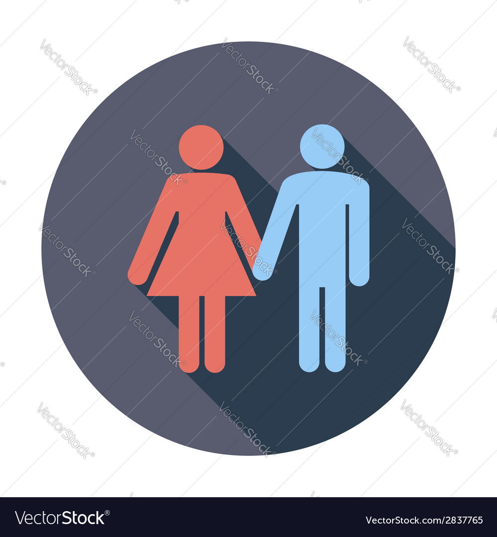 Couple sign vector | Price: 1 Credit (USD $1)