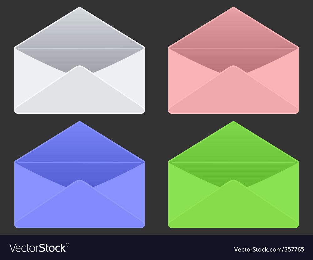 Empty envelopes vector | Price: 1 Credit (USD $1)