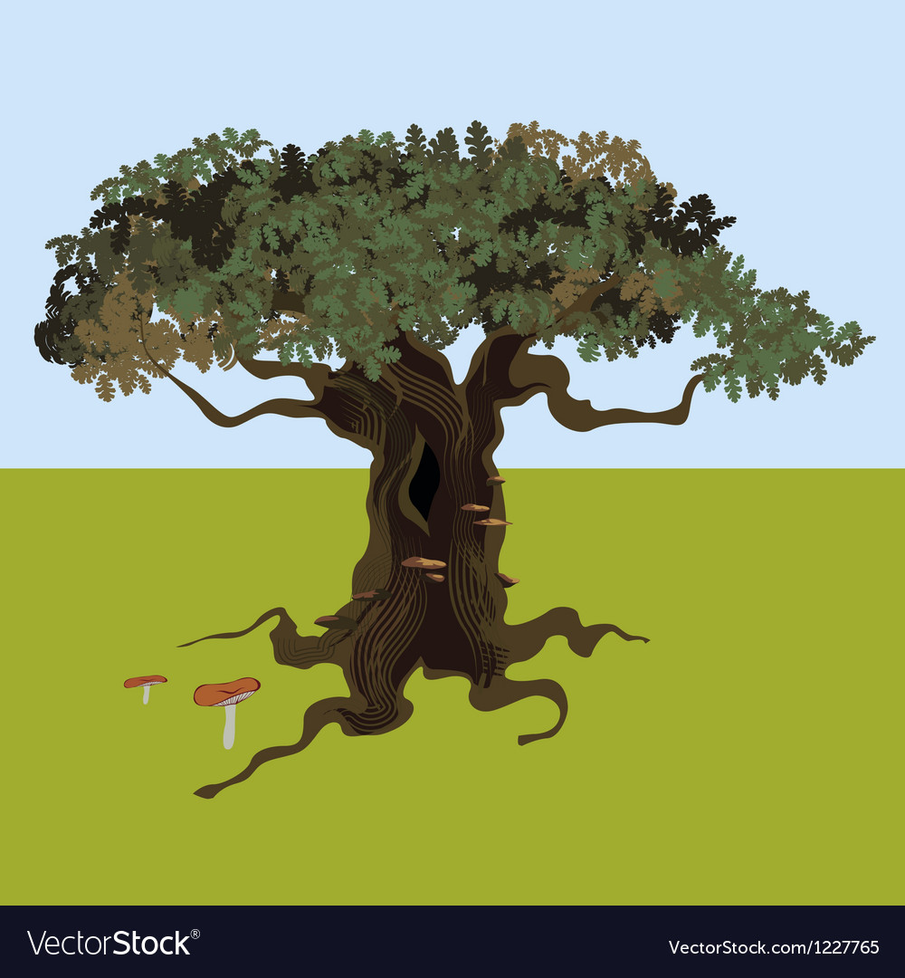 Fantastic oak vector | Price: 1 Credit (USD $1)