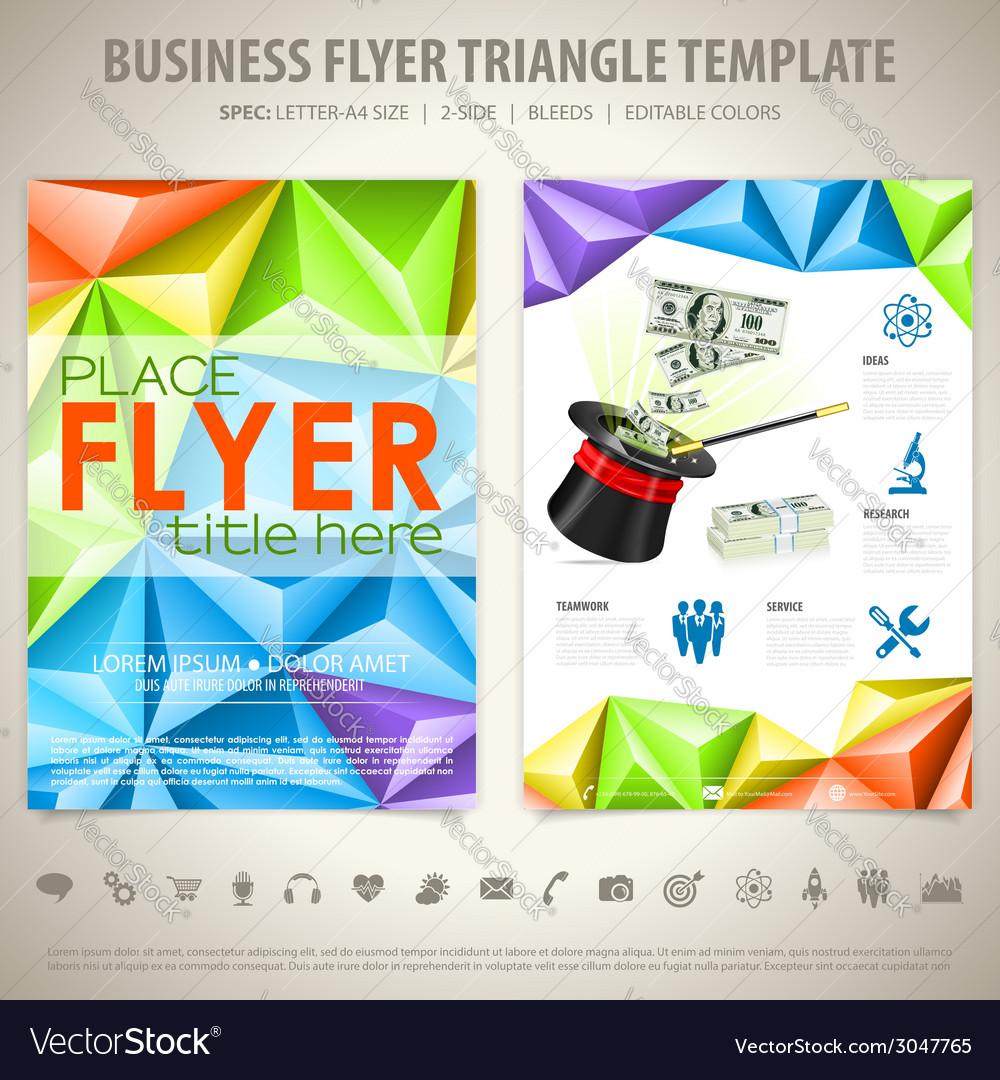 Flyer design template vector   Price: 1 Credit (USD $1)