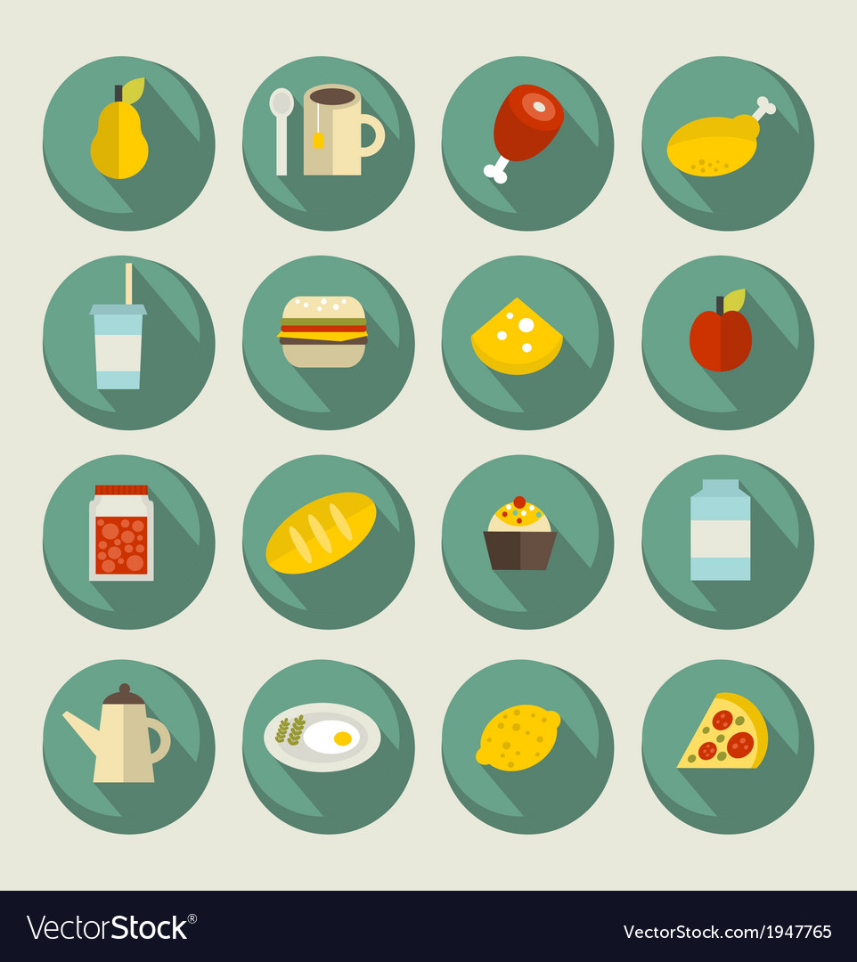 Food icon set on the banners vector | Price: 1 Credit (USD $1)