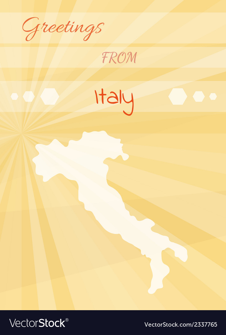 Greetings from italy vector | Price: 1 Credit (USD $1)