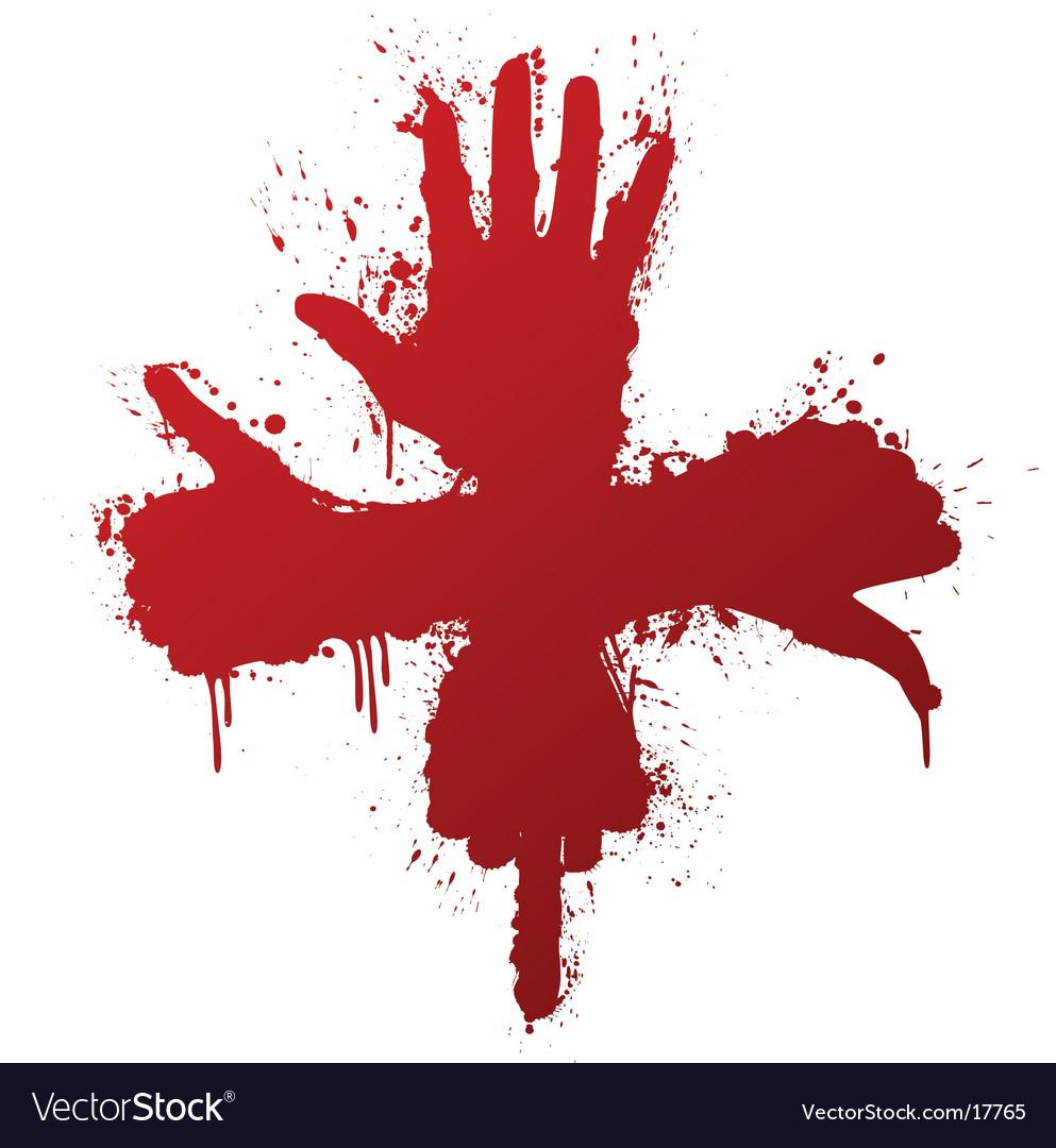 Hand gestures ink splatter concept vector   Price: 1 Credit (USD $1)