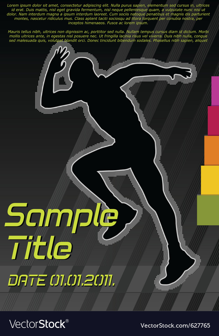 Running poster vector | Price: 1 Credit (USD $1)