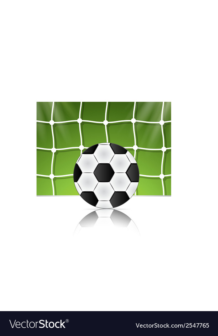 Soccer ball on green background poster design with vector   Price: 1 Credit (USD $1)