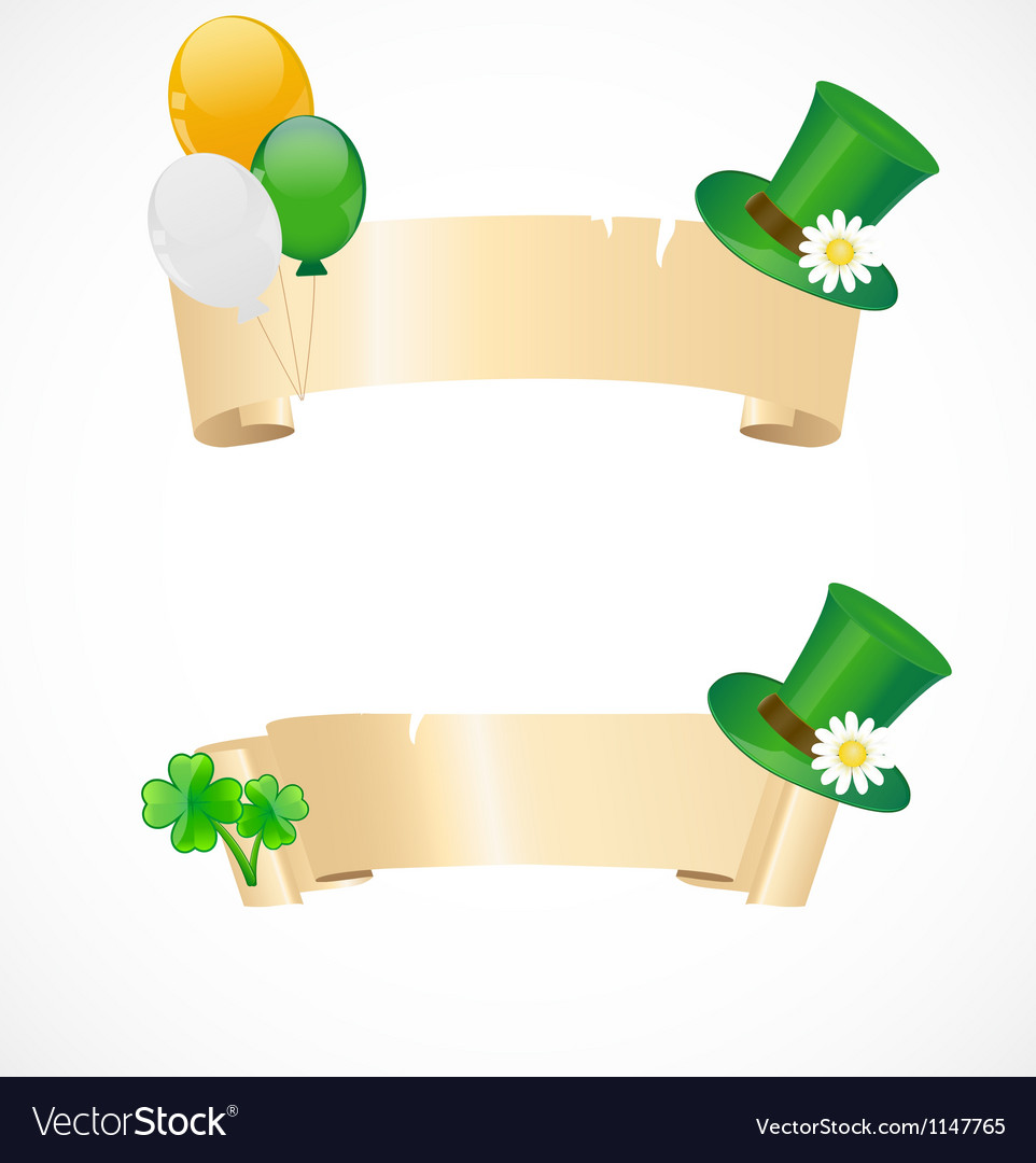 St patrick day banners vector | Price: 1 Credit (USD $1)