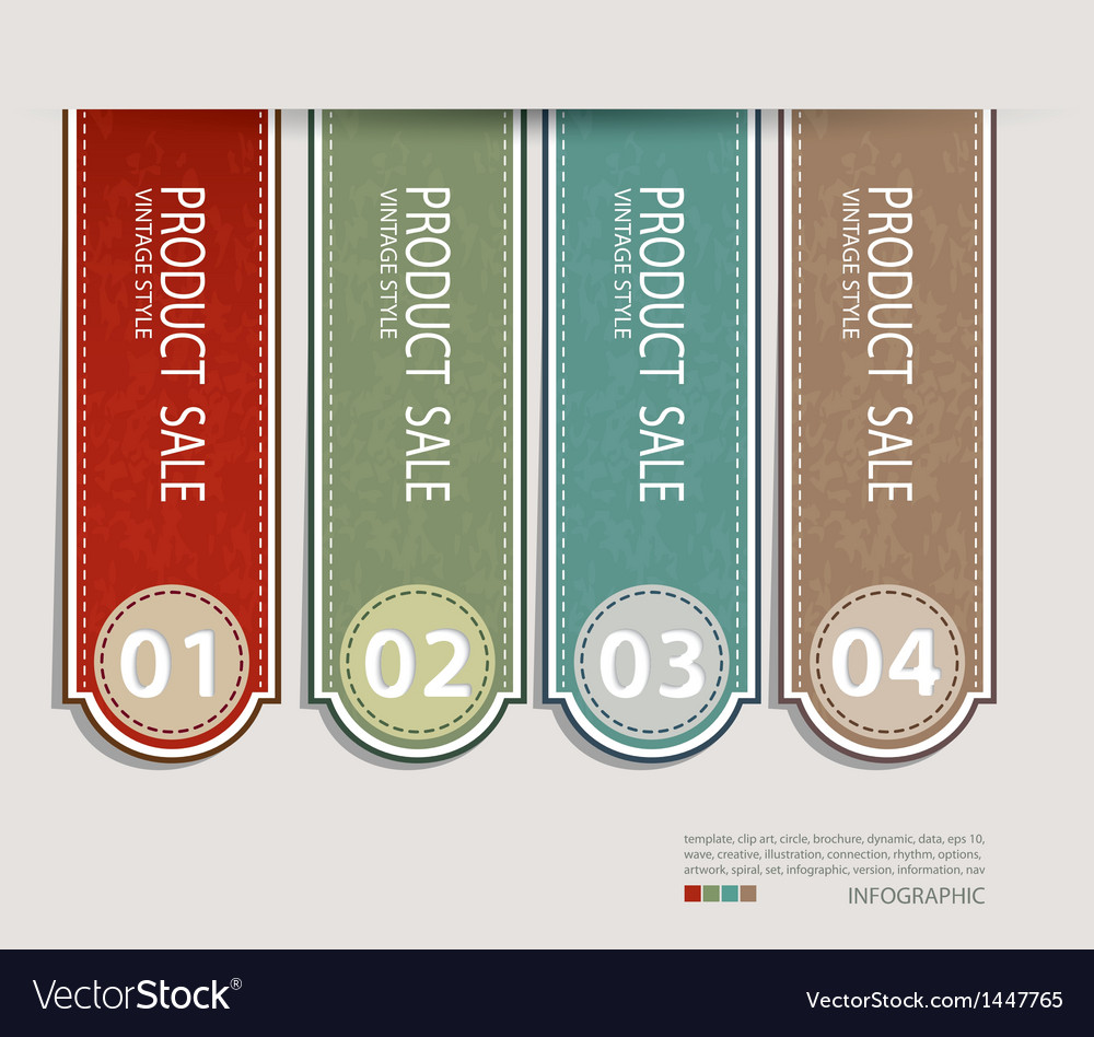 Vintage label paper design vector | Price: 1 Credit (USD $1)