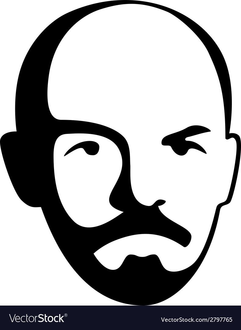 Vladimir lenin - leader of soviet bolshevik party vector | Price: 1 Credit (USD $1)