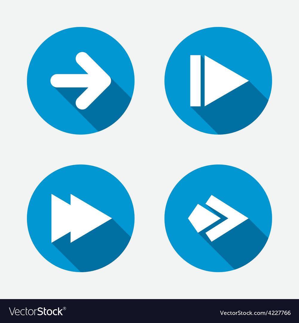 Arrow icons next navigation signs symbols vector | Price: 1 Credit (USD $1)