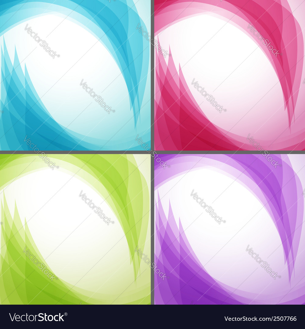 Bright wavy arrows backgrounds collection vector | Price: 1 Credit (USD $1)