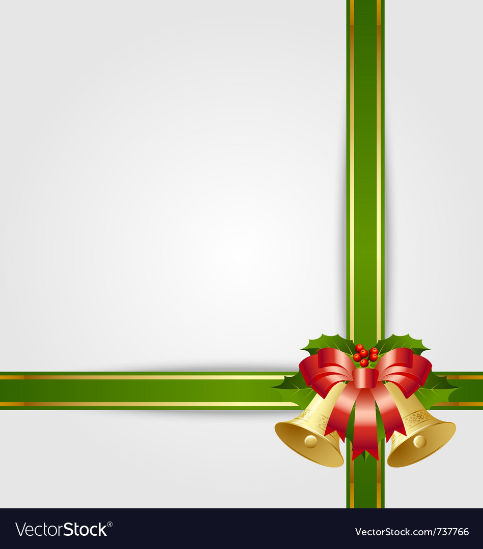 Christmas gift ribbon vector | Price: 1 Credit (USD $1)