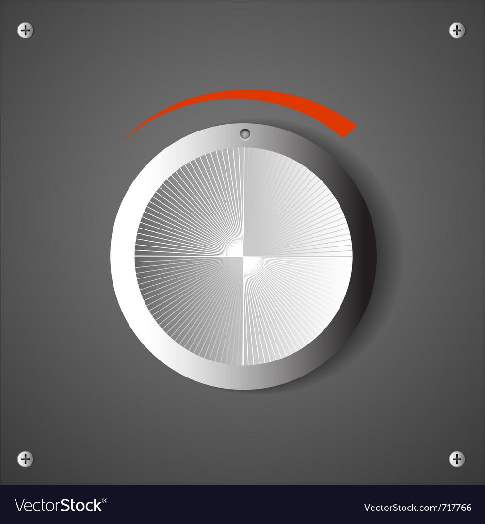 Chrome volume knob eps10 vector | Price: 1 Credit (USD $1)