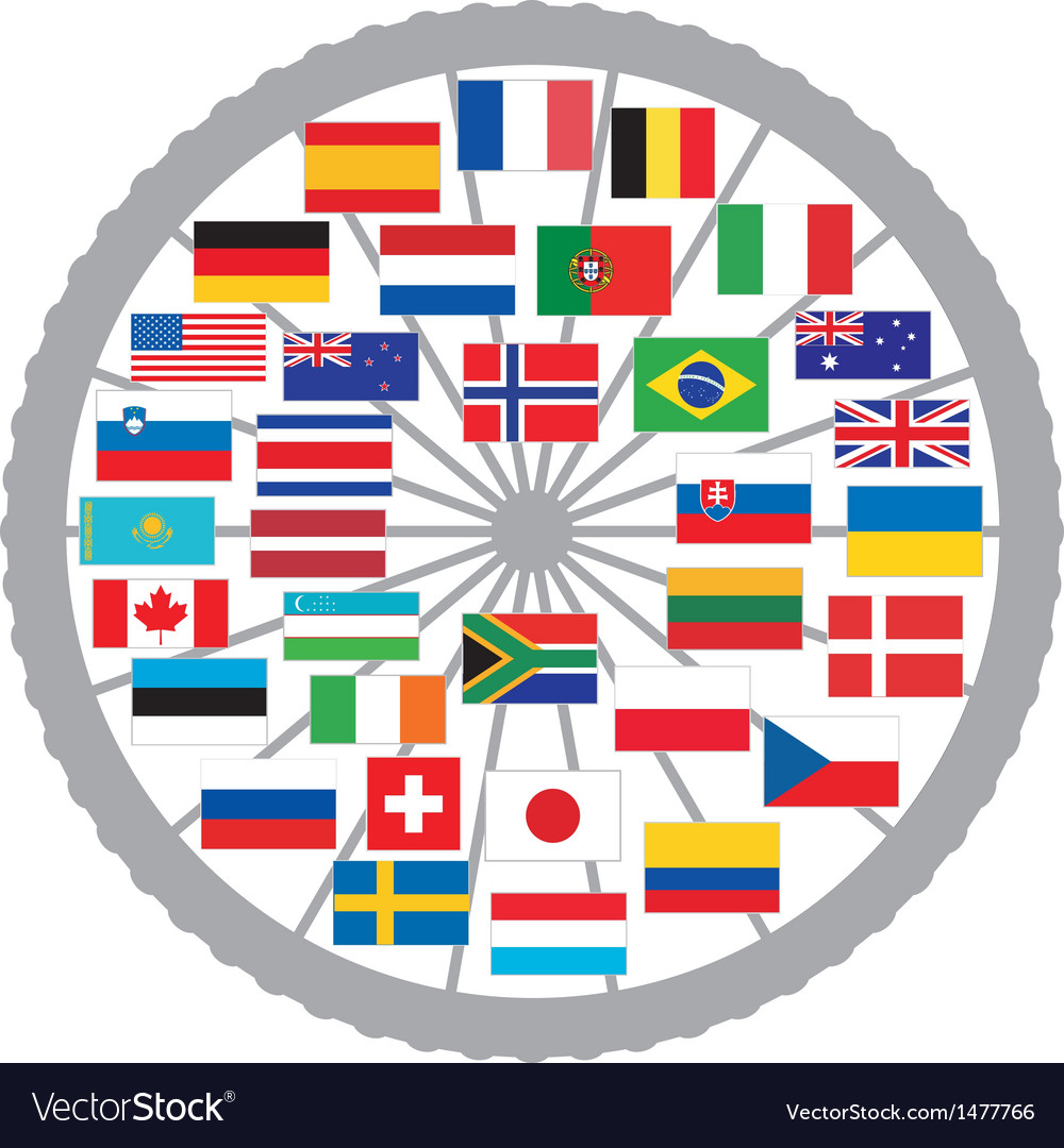 Flags of countries of the tour de france 2013 vector | Price: 1 Credit (USD $1)