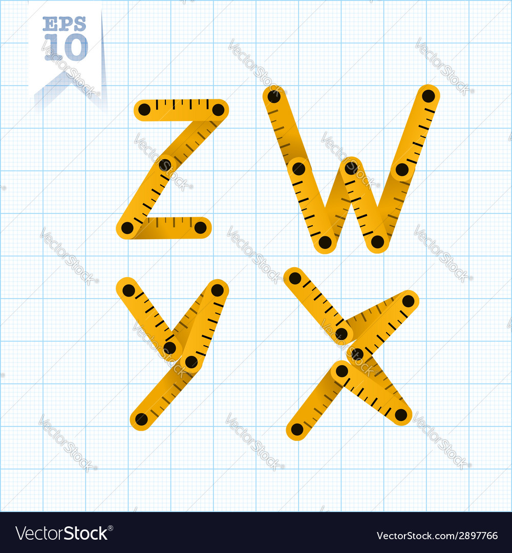 Measuring folding ruler flat abc vector | Price: 1 Credit (USD $1)