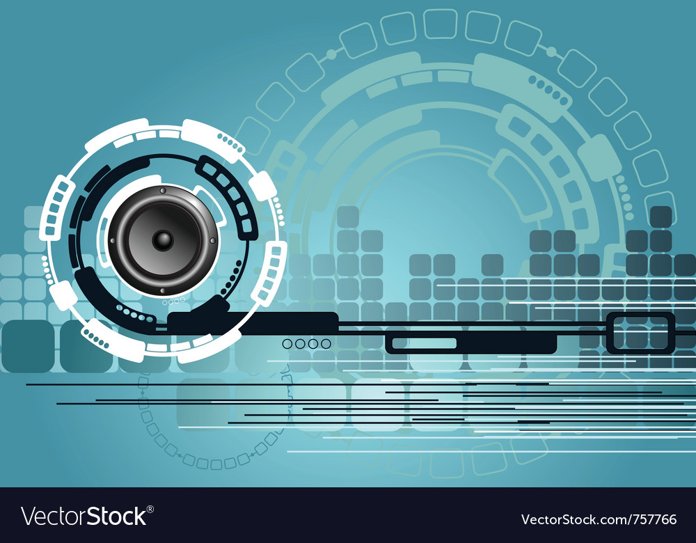 Music technology background vector | Price: 1 Credit (USD $1)