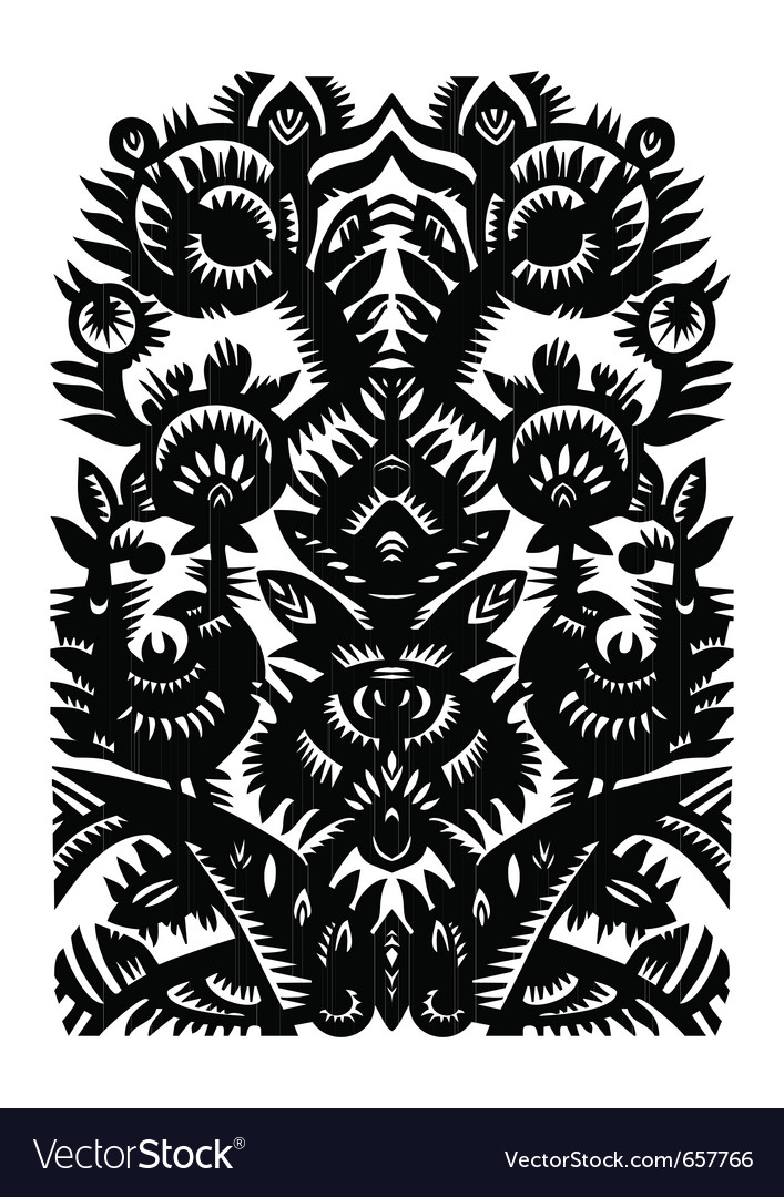 Paper cut pattern vector | Price: 1 Credit (USD $1)