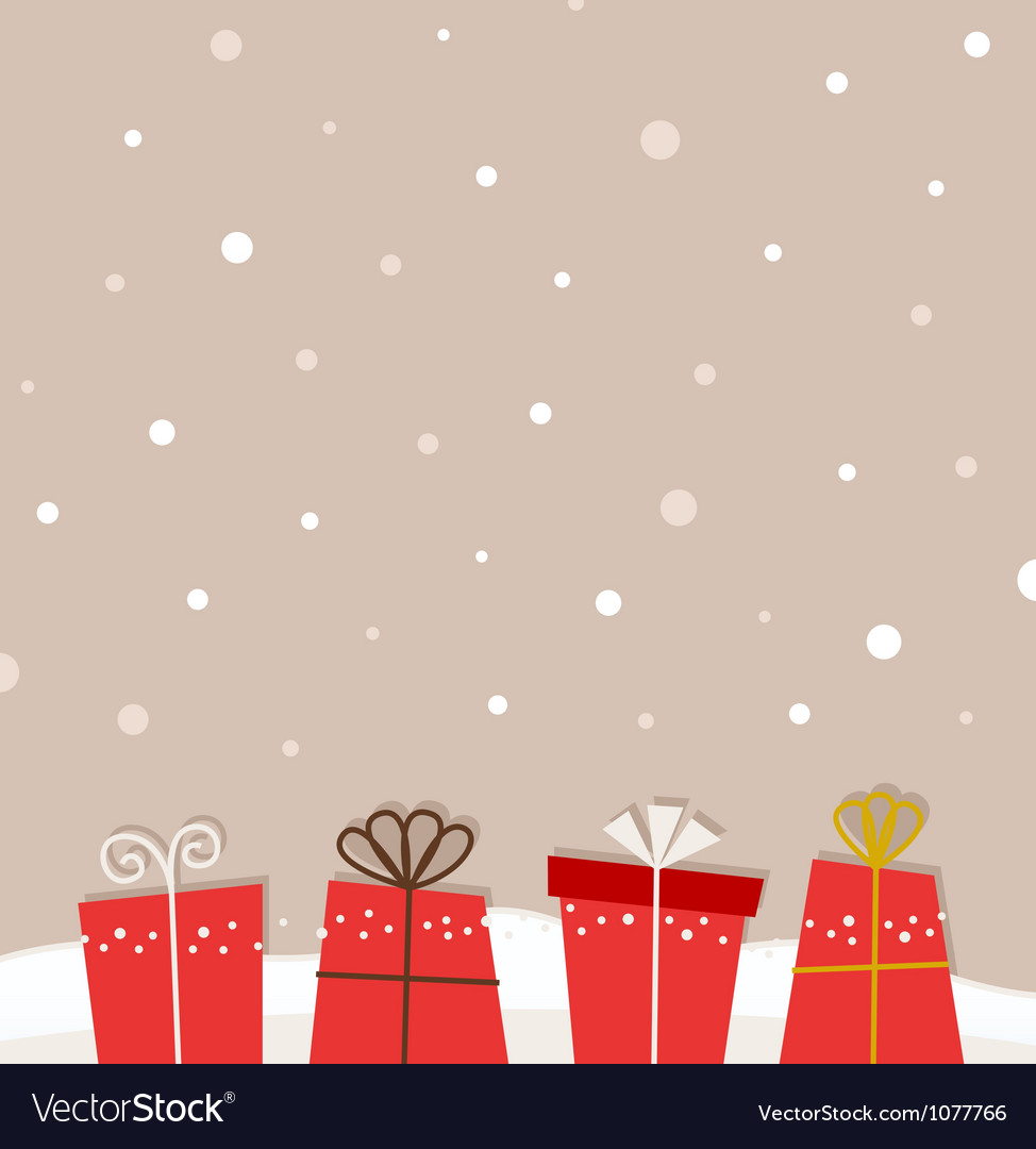 Retro christmas background vector | Price: 1 Credit (USD $1)