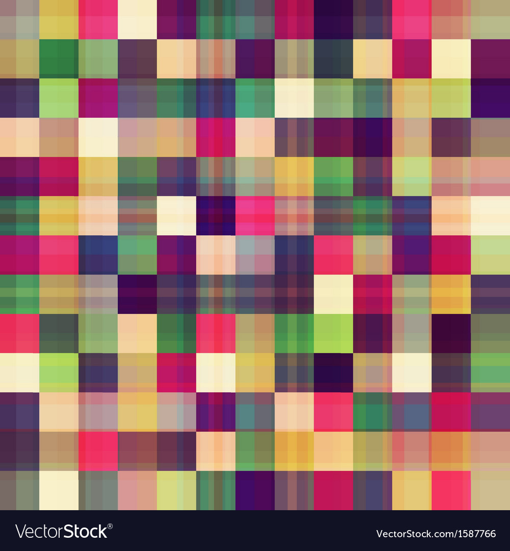 Square geometric seamless pattern vector | Price: 1 Credit (USD $1)