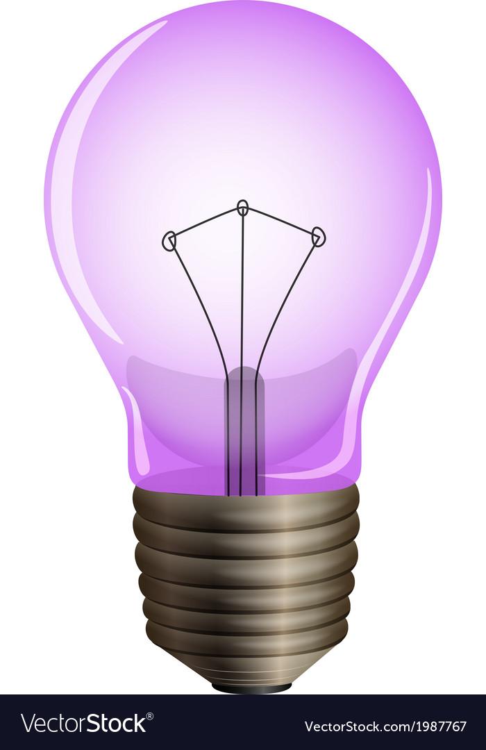 A purple light bulb vector | Price: 1 Credit (USD $1)