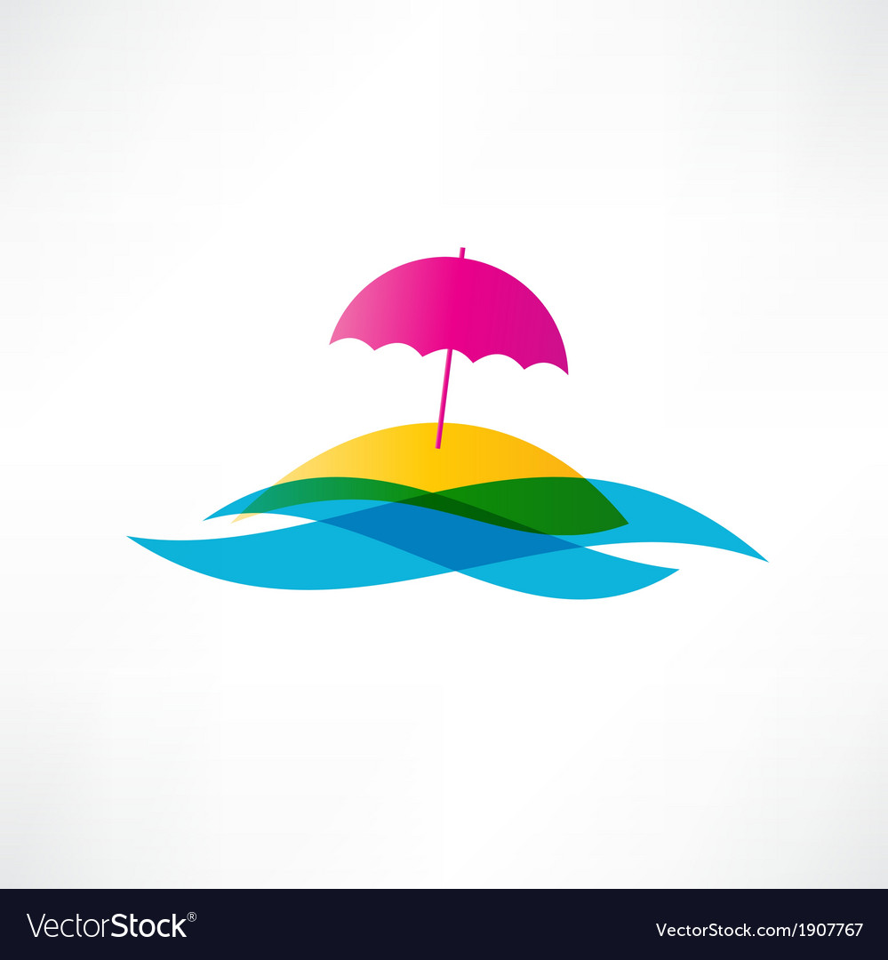 Abstract beach holiday icon vector | Price: 1 Credit (USD $1)