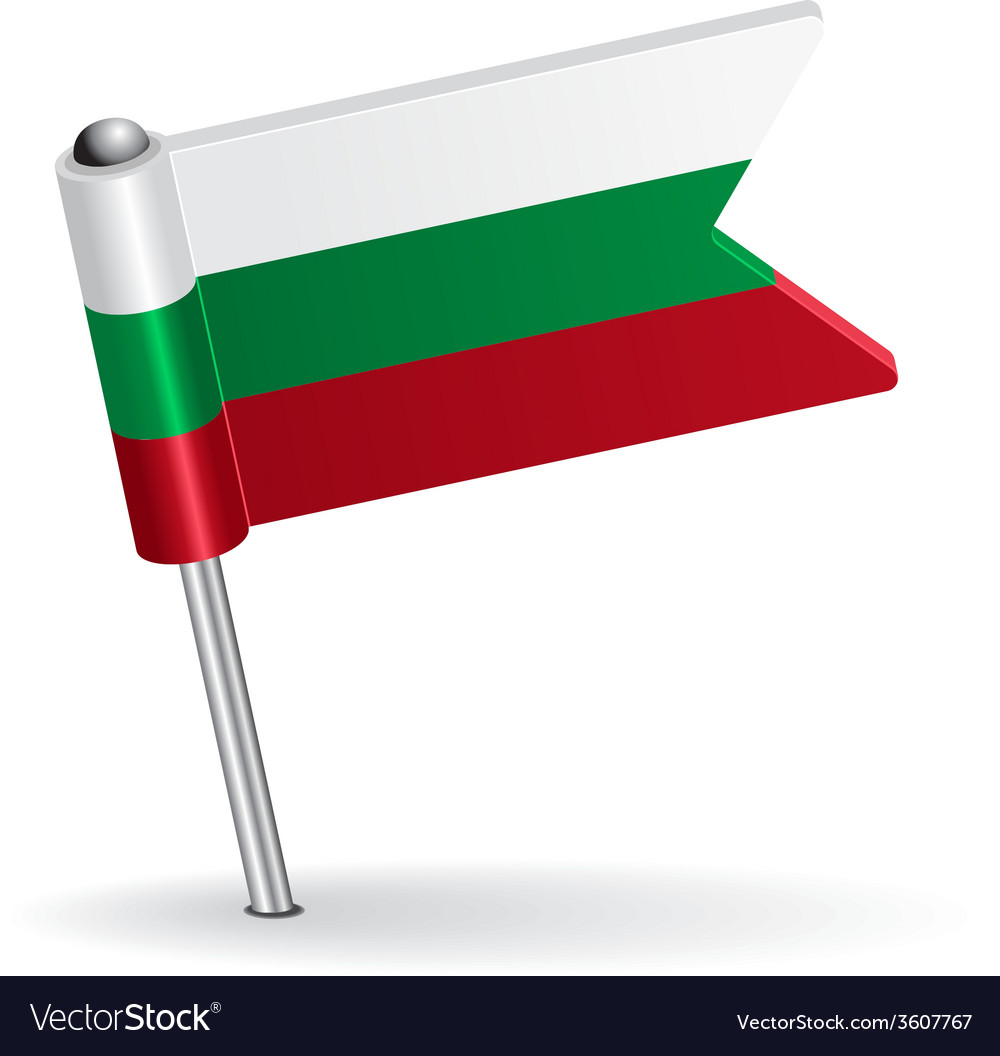 Bulgarian pin icon flag vector | Price: 1 Credit (USD $1)
