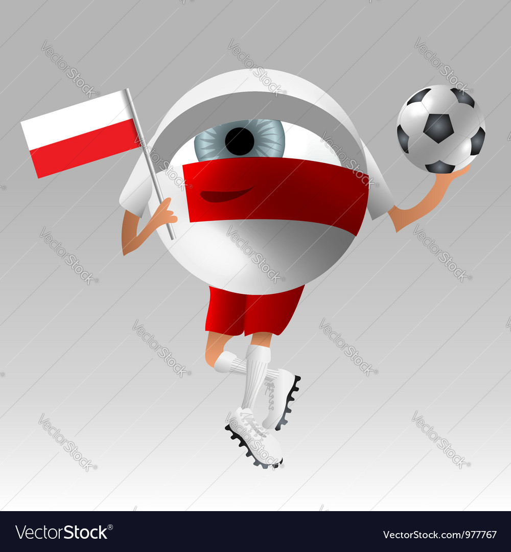 Football poland fan eyeball vector | Price: 1 Credit (USD $1)