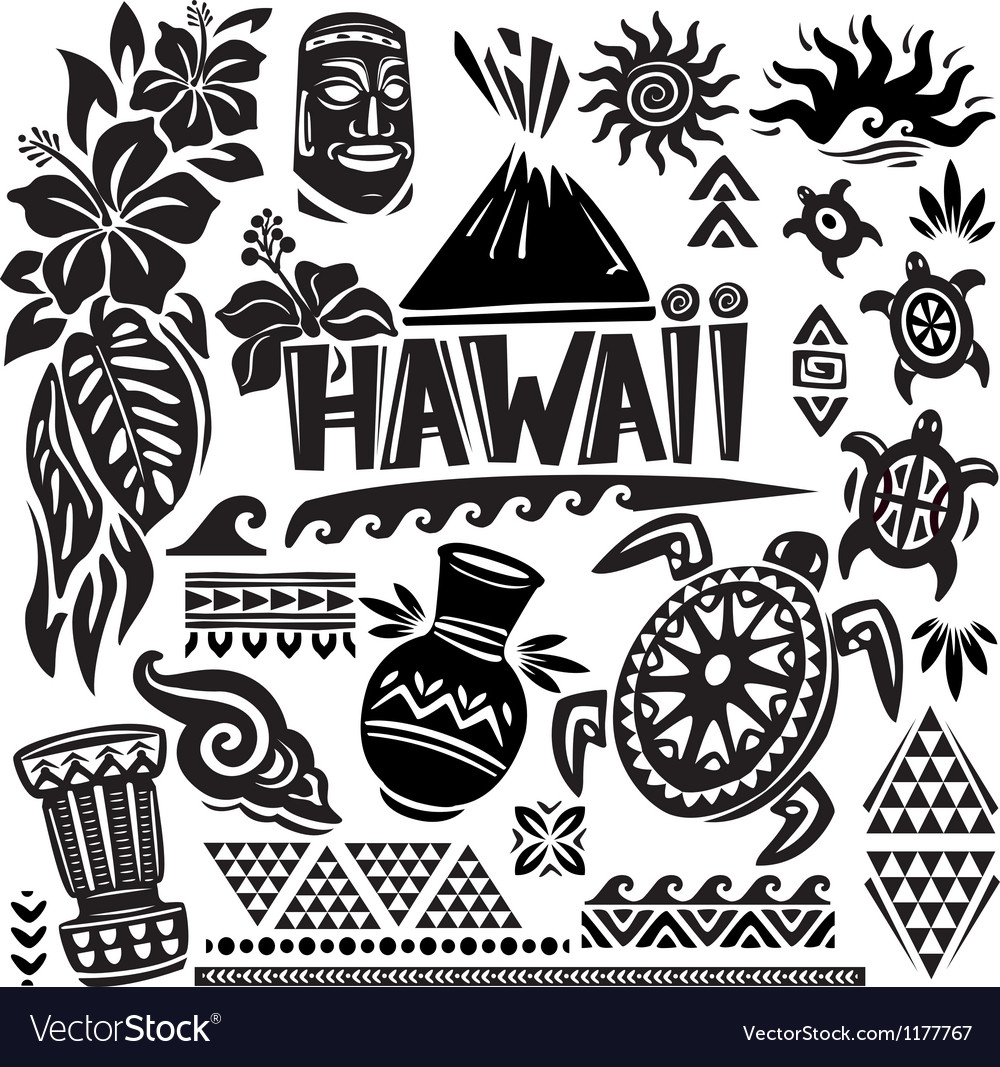 Hawaii set vector | Price: 1 Credit (USD $1)