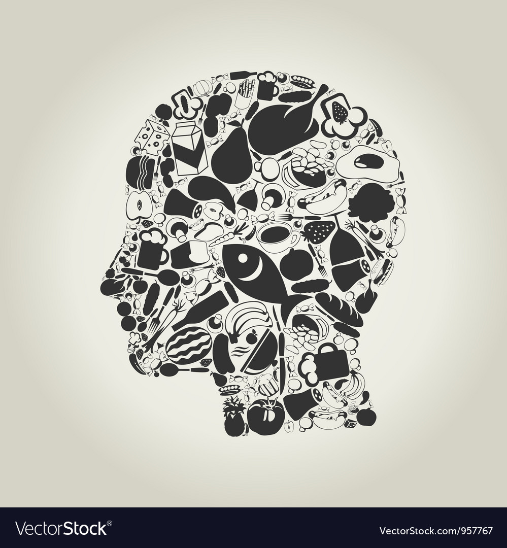 Head food vector | Price: 1 Credit (USD $1)