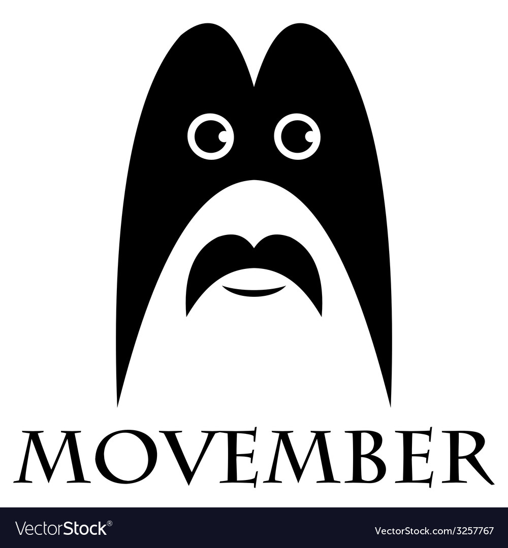 Movember - man with a mustache and a mask vector | Price: 1 Credit (USD $1)