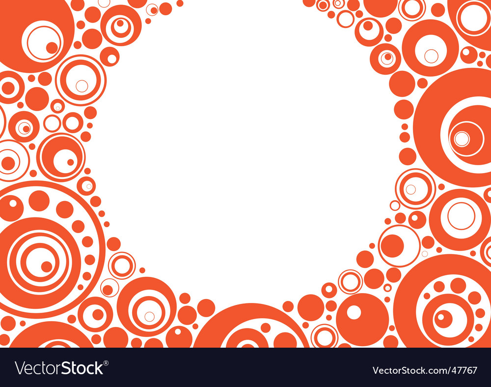 Orange circles vector