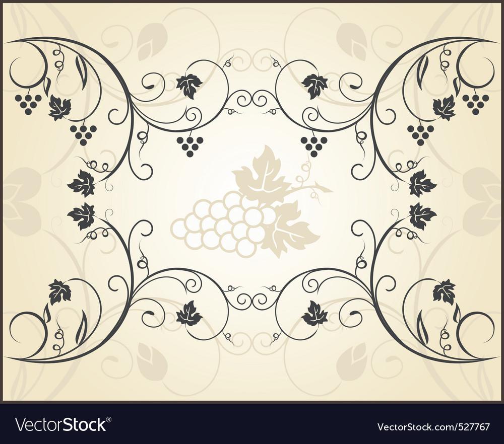 Retro engraving of grapevine vector | Price: 1 Credit (USD $1)