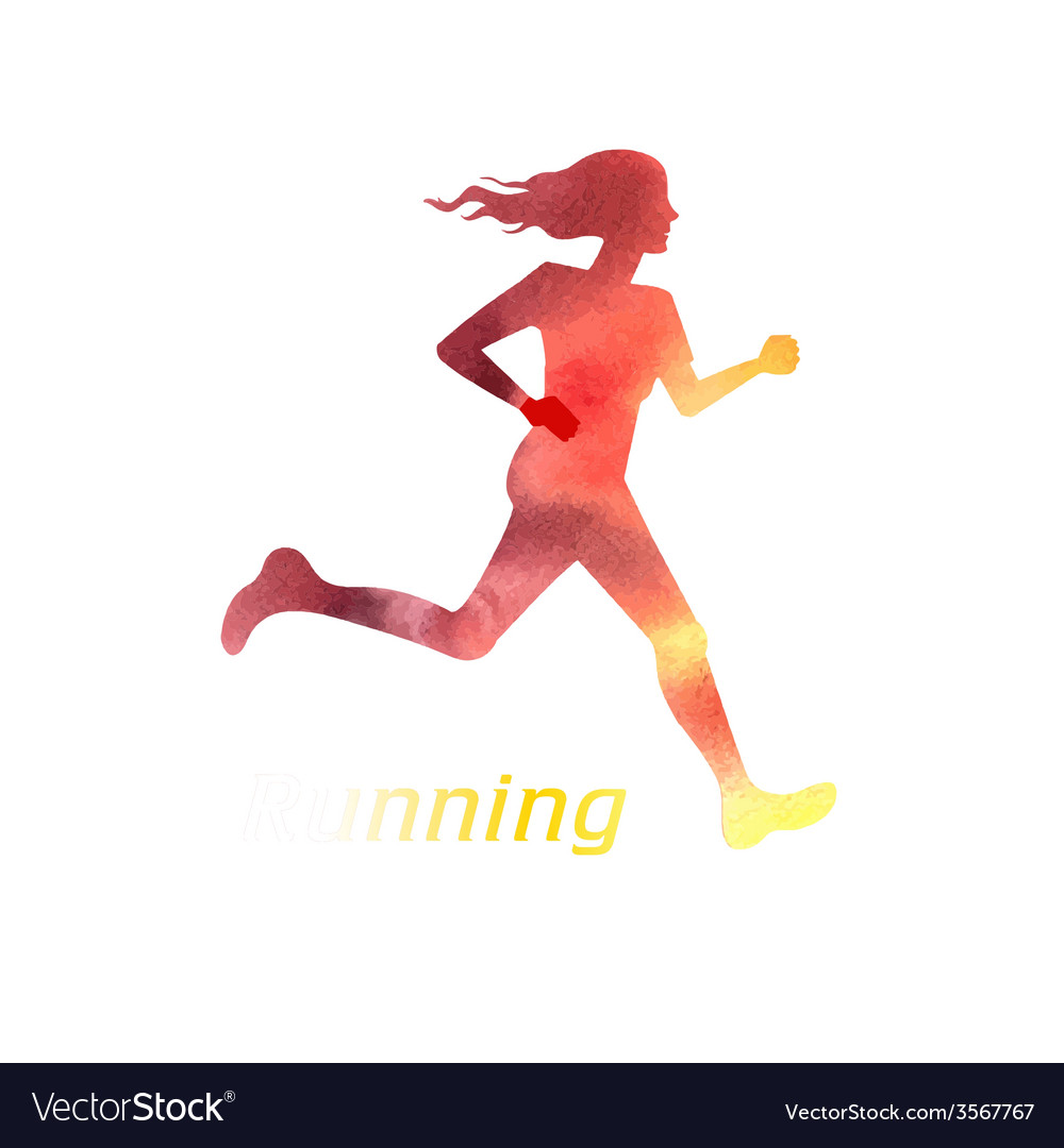 Running girl silhouette vector | Price: 1 Credit (USD $1)