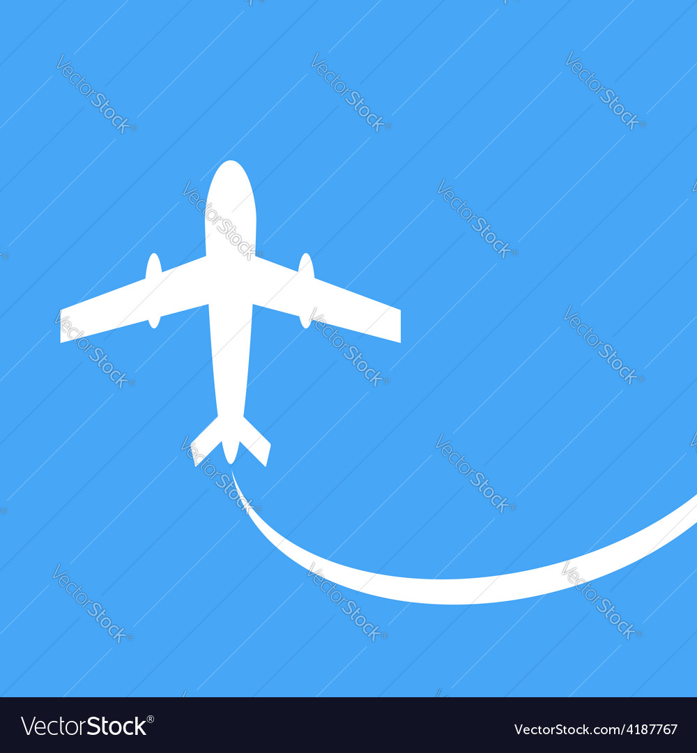 Silhouette of a passenger plane vector | Price: 1 Credit (USD $1)