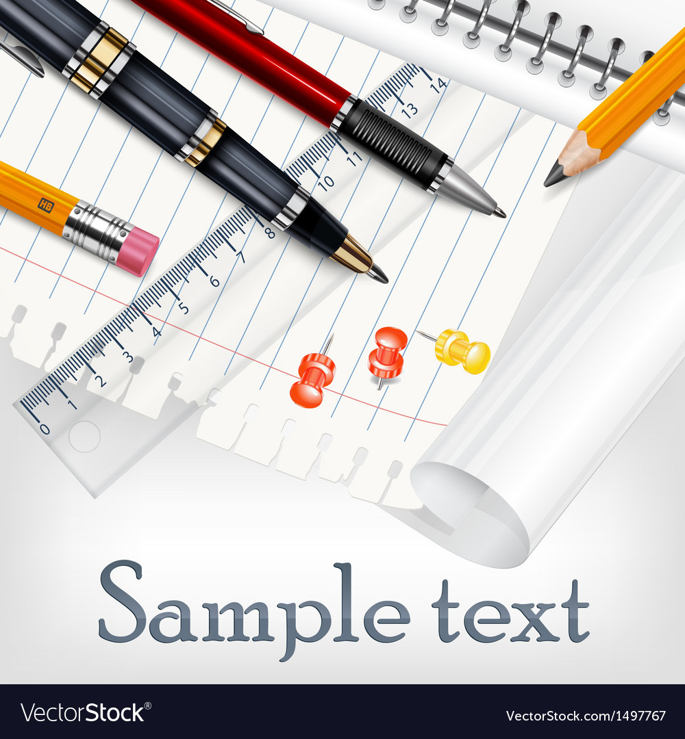 Stationery for school vector | Price: 1 Credit (USD $1)