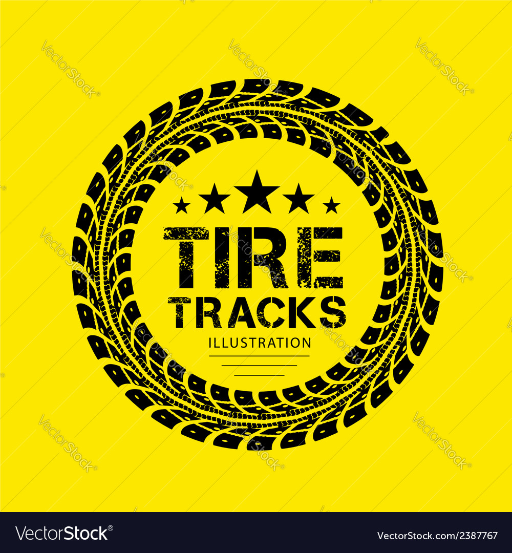 Tire track 04 vector | Price: 1 Credit (USD $1)