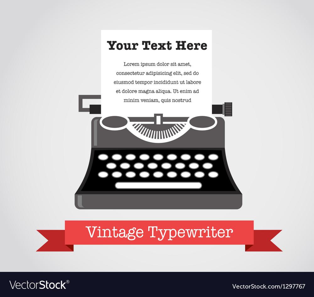 Vintage typewriter vector | Price: 3 Credit (USD $3)