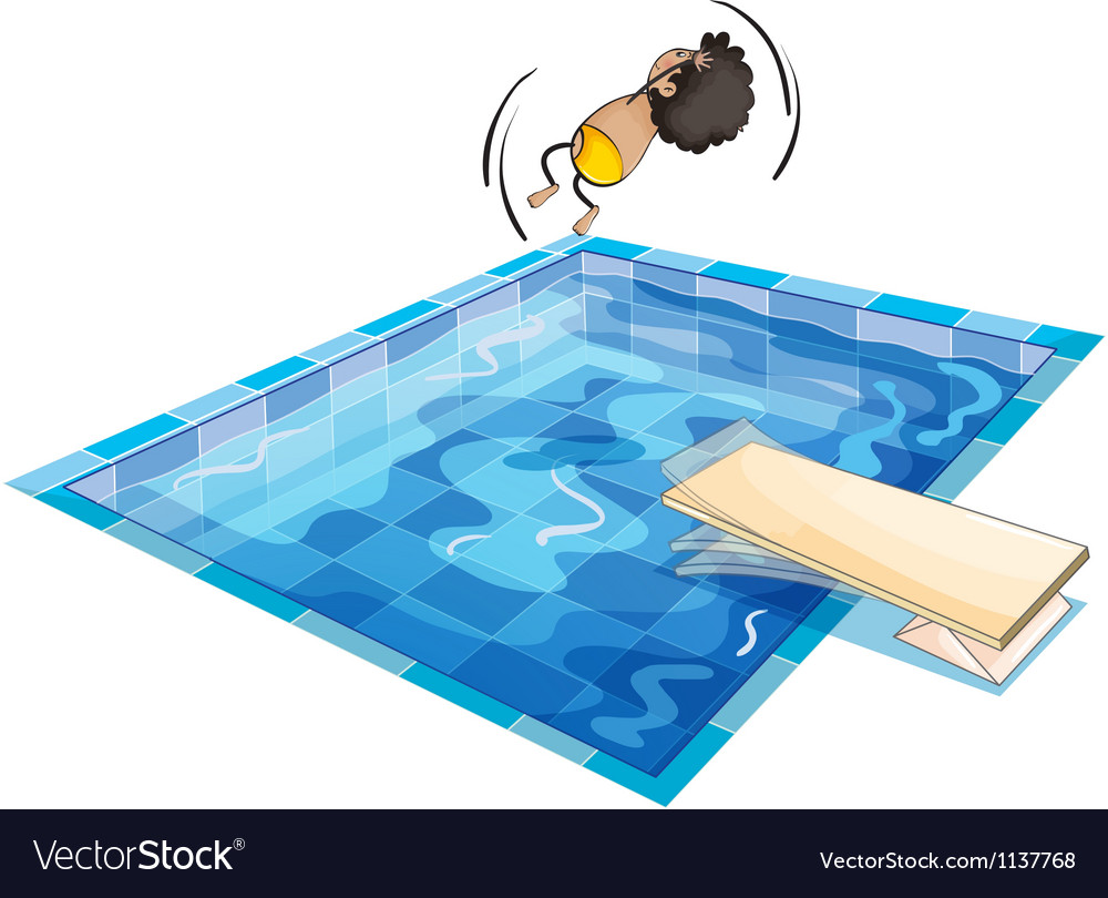 A boy and swimming pool vector | Price: 1 Credit (USD $1)