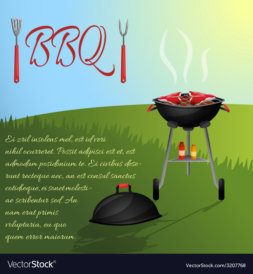 Bbq menu poster vector | Price: 1 Credit (USD $1)