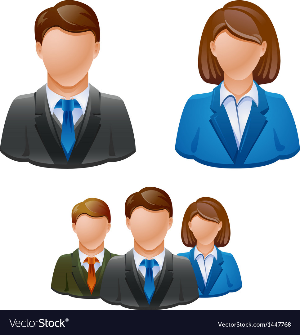 Business people avatar people icon vector | Price: 1 Credit (USD $1)