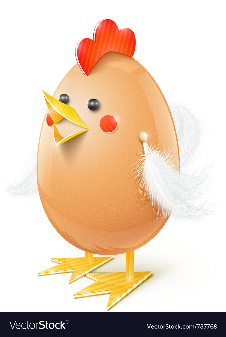Chicken egg handicraft vector | Price: 3 Credit (USD $3)
