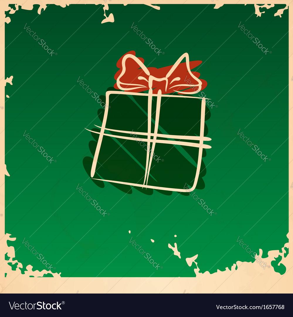 Christmas vintage gift box vector   Price: 1 Credit (USD $1)