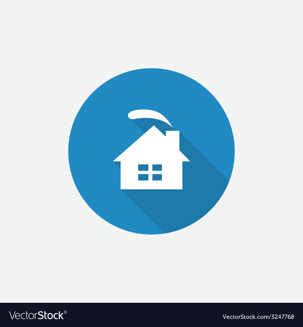Cozy home flat blue simple icon with long shadow vector | Price: 1 Credit (USD $1)